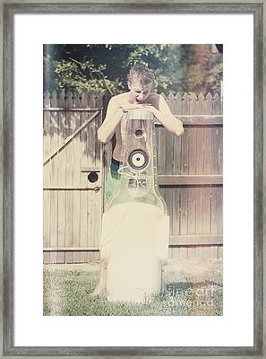 Young Man Singing Along To Summer Beer Songs Framed Print by Jorgo Photography - Wall Art Gallery