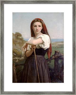 Young Shepherdess Framed Print