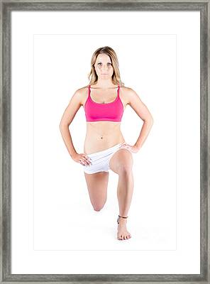 Young Woman Exercising Framed Print by Jorgo Photography - Wall Art Gallery