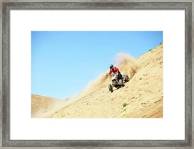 Youths Scrambling On Aggregate Piles Framed Print by Ashley Cooper