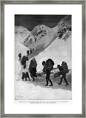 Yukon Gold Rush, 1896 Framed Print