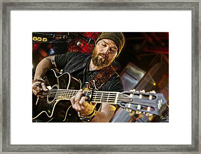Zac Brown Framed Print by Don Olea