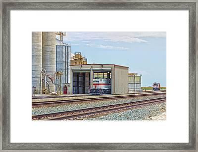 Foster Farms Locomotives Framed Print