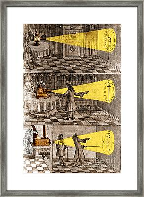 Zahn Light Projection Apparatus 1685 Framed Print by Science Source