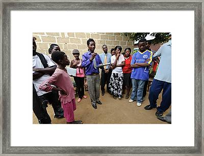 Zambian Theatre Group Meeting Framed Print