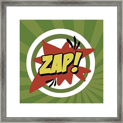 Zap Framed Print by Anna Quach