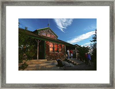 Zealand Falls Hut Framed Print