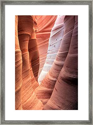 Zebra Canyon  Framed Print by Johnny Adolphson