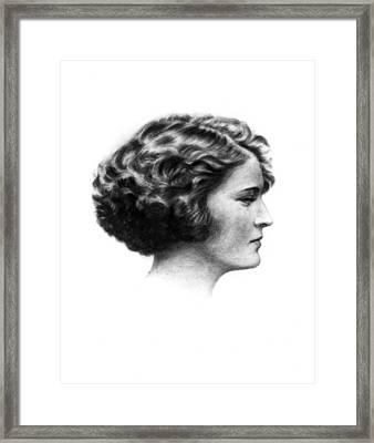 Zelda Fitzgerald (1900-1948) Framed Print by Granger