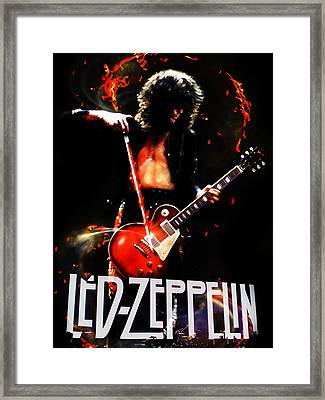 Zeppelin Framed Print by FHT Designs