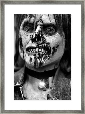 zombie face Carnen Framed Print by Tommytechno Sweden