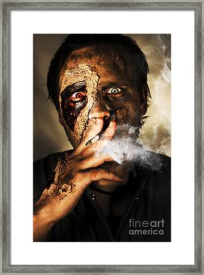 Zombie Killing Some Time Framed Print by Jorgo Photography - Wall Art Gallery