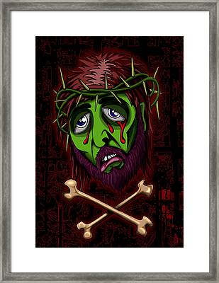 Zombie Superstar Framed Print