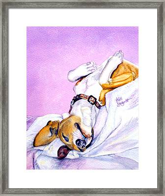 Zonked Into Blissfulness Framed Print by Ruth Bodycott