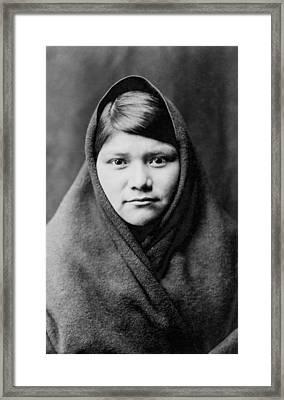Zuni Girl Circa 1903 Framed Print by Aged Pixel