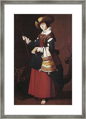Zurbaran, Francisco De 1598-1664. Saint Framed Print by Everett