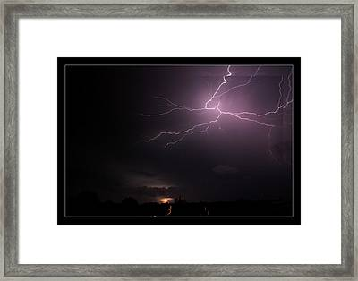 10-07-14 Lightning Storm Framed Print by EricaMaxine  Price