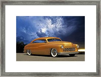 1950 Mercury Custom Framed Print by Dave Koontz