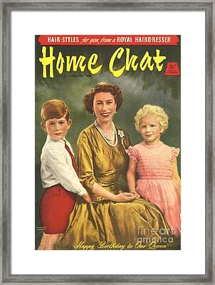 1950s Uk Home Chat Magazine Cover Framed Print