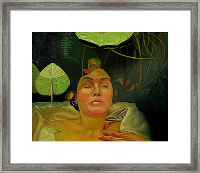 Framed Print featuring the painting 10 30 A.m. by Thu Nguyen