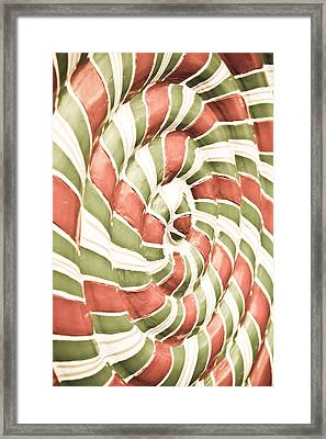 Abstract Pattern Framed Print by Tom Gowanlock