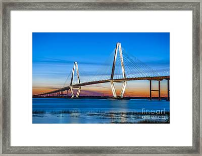 Charleston Arthur Ravenel Bridge Framed Print