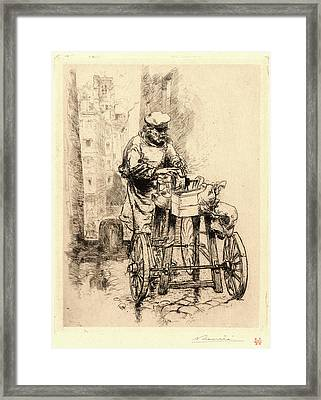 Auguste Louis Lepère French Framed Print by Litz Collection
