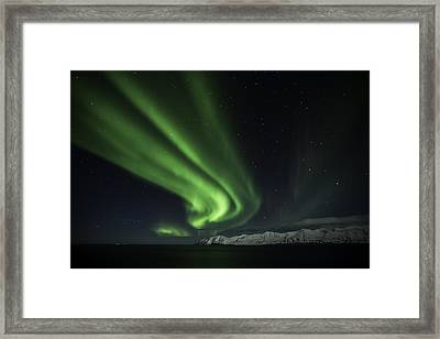 Aurora Borealis Framed Print by Frodi Brinks