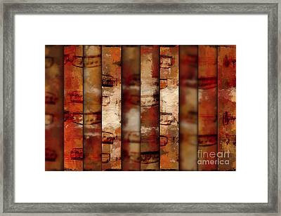 10-bar Orange Pastiche Framed Print