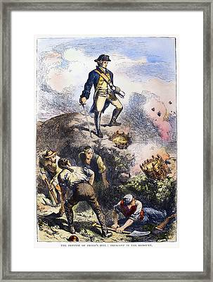 Battle Of Bunker Hill, 1775 Framed Print