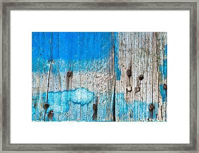 Blue Wood Framed Print