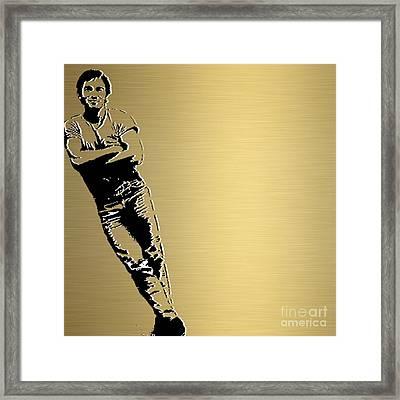 Bruce Springsteen Gold Series Framed Print