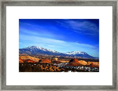 Capitol Reef National Park Burr Trail Framed Print by Mark Smith
