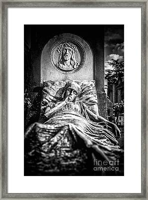 Cemetery Of Mantova Framed Print