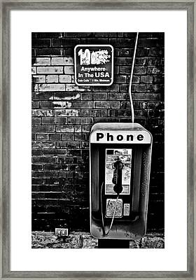 10 Cent Phone Call Framed Print