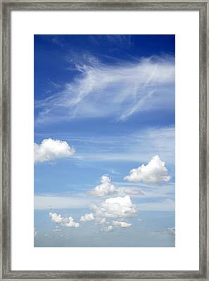 Clouds Framed Print by Les Cunliffe