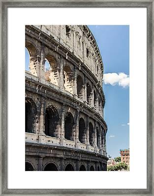 Colosseum - Rome Italy Framed Print