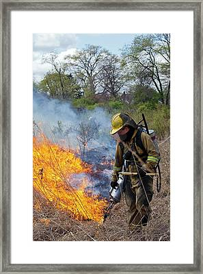 Controlled Fire Framed Print