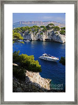 Beautiful Coast Of Cote D'azur Framed Print
