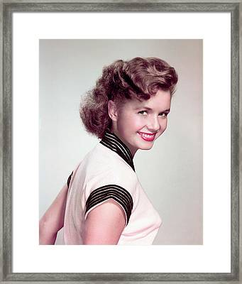 Debbie Reynolds Framed Print by Silver Screen