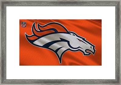 Denver Broncos Uniform Framed Print by Joe Hamilton