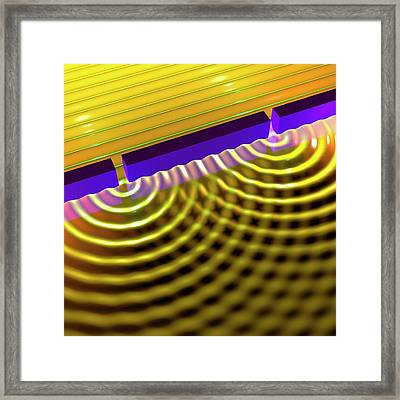 Double-slit Experiment Framed Print