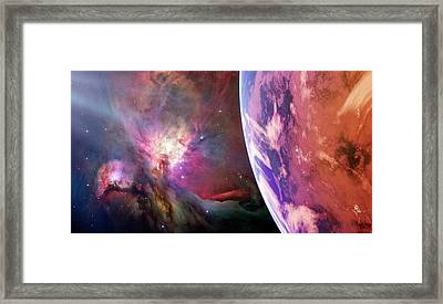 Earth-like Alien Planet Framed Print by Detlev Van Ravenswaay