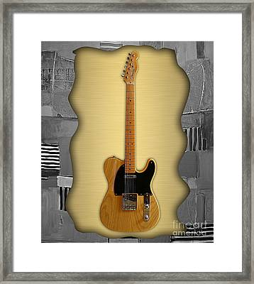 Fender Telecaster Collection Framed Print by Marvin Blaine