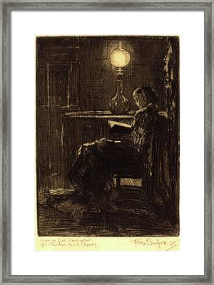 Félix-hilaire Buhot, French 1847-1898 Framed Print by Litz Collection