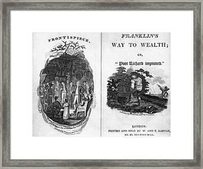 Franklin Way To Wealth Framed Print by Granger