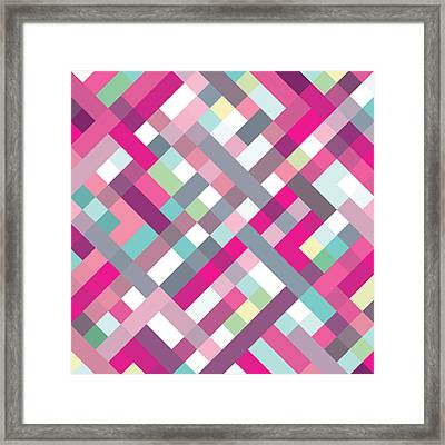 Framed Print featuring the digital art Geometric Art by Mike Taylor