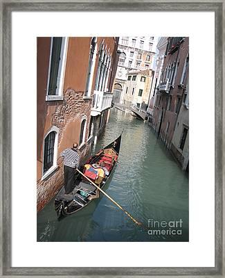 Gondola. Venice Framed Print by Bernard Jaubert