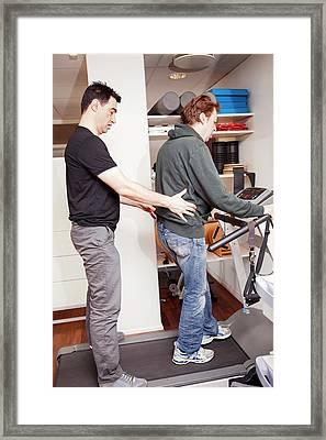 Hemiplegic Stroke Physiotherapy Framed Print by Thomas Fredberg