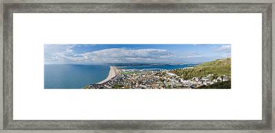 High Angle View Of A City Framed Print by Panoramic Images